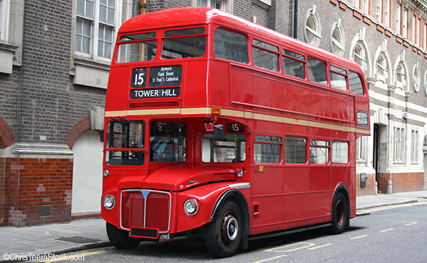 Roter Bus in London