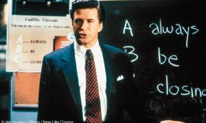 """Always be closing!"": Alec Baldwin  in Glengarry Glen Ross"