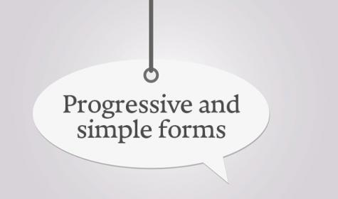 progressive and simple forms